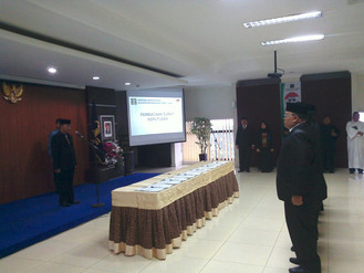 Pelantikan 33 orang PPNS Pemprov DKI Jakarta oleh kepala Kanwil Kemenkumham Provinsi DKI jakarta