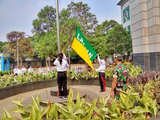 Peserta Pelatihan Dasar CPNS Angkatan 1 - 5 Kamis 13 Juni Tahun 2019 Latihan Menaikan Bendera di JIC