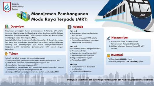 Public Training Manajemen Pembangunan Mo