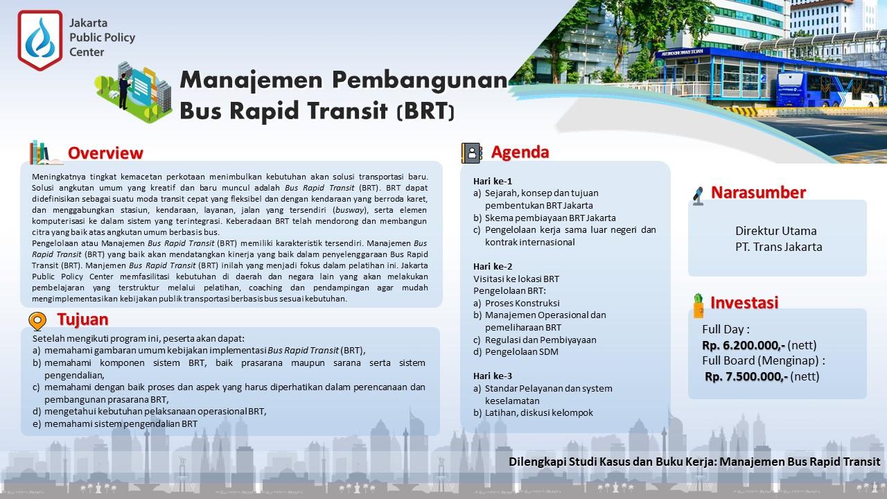Public Training Manajemen Pembangunan Bu