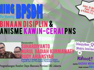 Shining (Sharing In The Morning) BPSDM : Pembinaan Disiplin dan Kawin-Cerai PNS