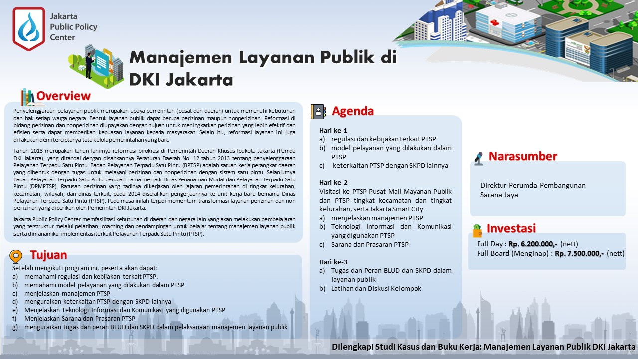Public Training Manajemen Layanan Publik