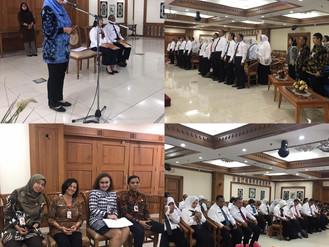 Pembukaan Diklat Kepemimpina Tingkat III Angkatan 53 dan 54 Tahun 2019 di Ruang Executive Longue Lan