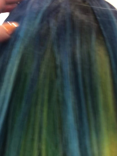 Blue Ombré with hidden rainbow panel