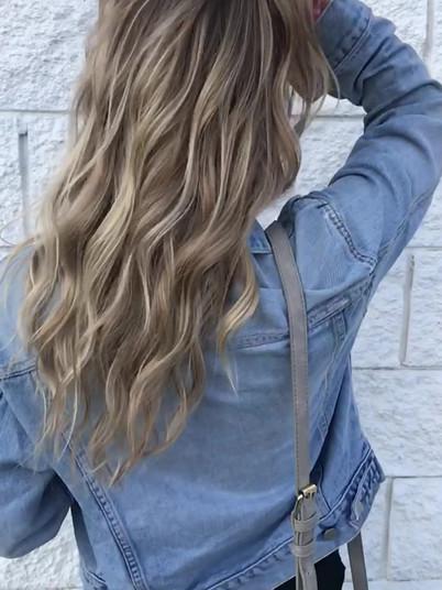 Partial Cool Ash Blonde Balayage