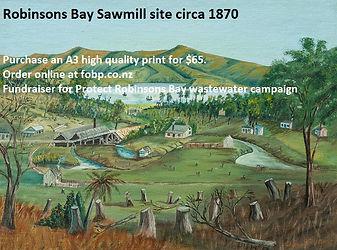 Robinsons Bay Sawmill Painting