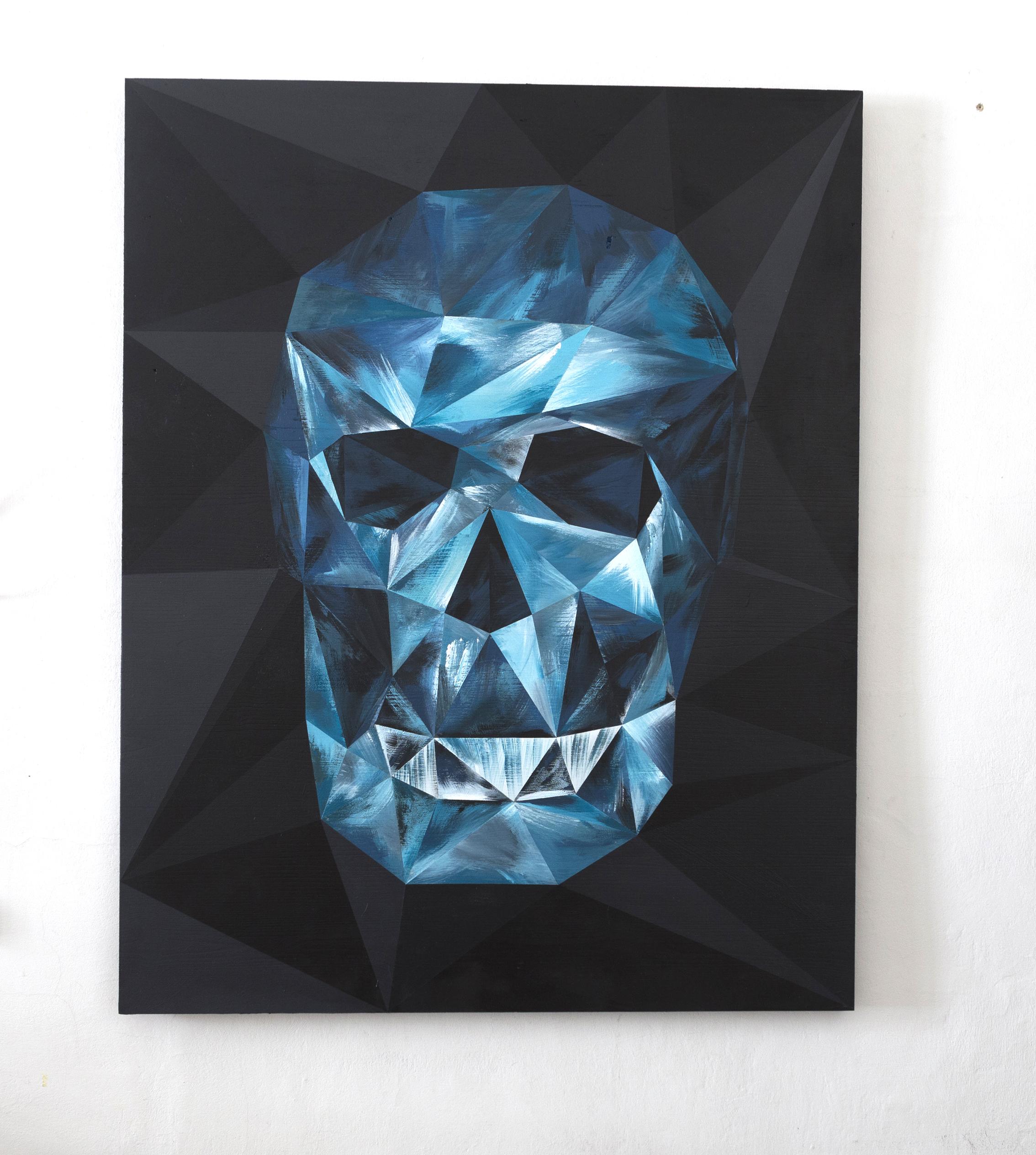 riccardo colombo art Skull-front
