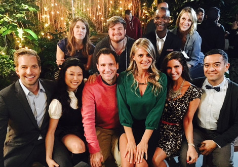 """""""Mid to Late"""" cast with Eliza Coupe, Ryan Hansen, Derek Miller and Jill Bartlett"""