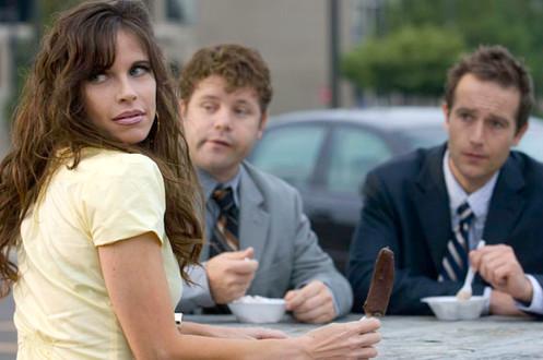 """DEMOTED"" Jill Bartlett as Tina, Sean Astin, Michael Vartan"