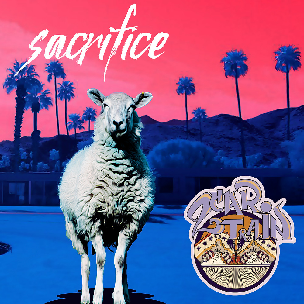"""Two Car Train New Single """"Sacrifice"""" available on Apple Music, Spotify, Amazon mp3, Google Play, and over 100 other online music streaming services and stores"""