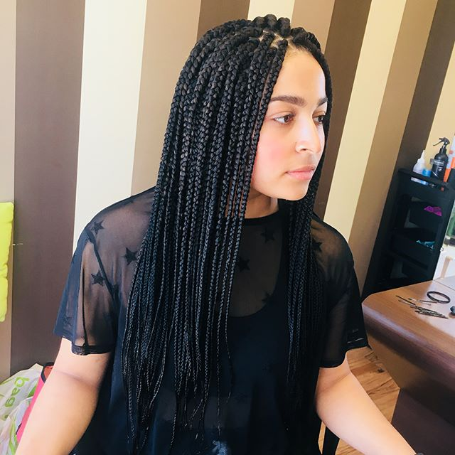 Gorgeous client _ionabroomes 😍😍. Gorgeous braids, holiday ready ❤️. Colour 1#, always a winner.jpg