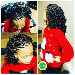 Merry Christmas gorgeous Titi 🌲💝. Gorgeous kids _volumehnb this festive season. #kidscornrows #bra