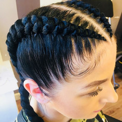 Gorgeous client _volumehnb gorgeous clients _beth_hodg 😍❤️❤️! Dutch braids at its best _ Volume hai