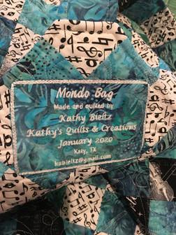 Mondo Bag Embroidered Label