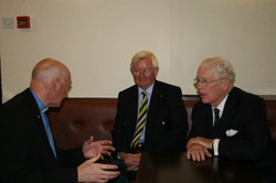 Rev. D. Prentice with Lord Lt. of Moray and Sir Alistair Irwin, President of Poppy Scotland and RBLS
