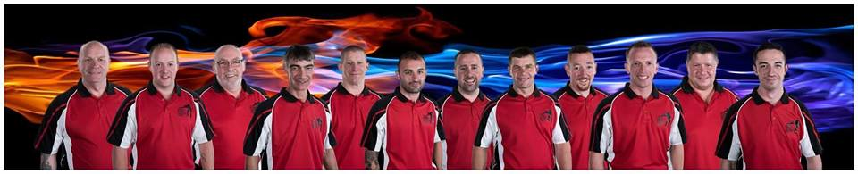 Scottish County Snooker Team. 10 of 12 players from Forres Legion. Held at Q Club, Glasgow