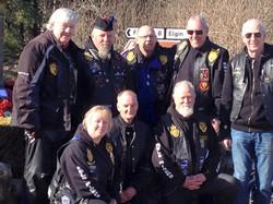RBLS Forres Riders Branch at the Dallas War Memorial.