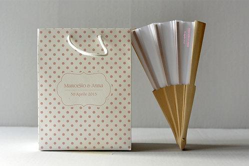 Wedding Bag + Ventaglio (1 set da 20 pezzi)