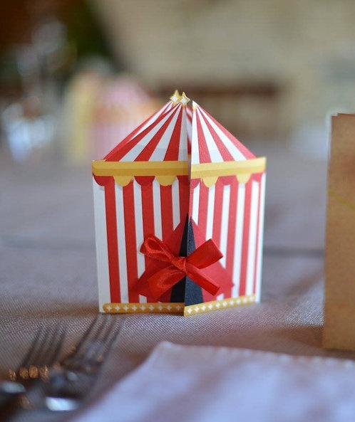 Invito/Menu Tema Circo (1 set da 10 pezzi)