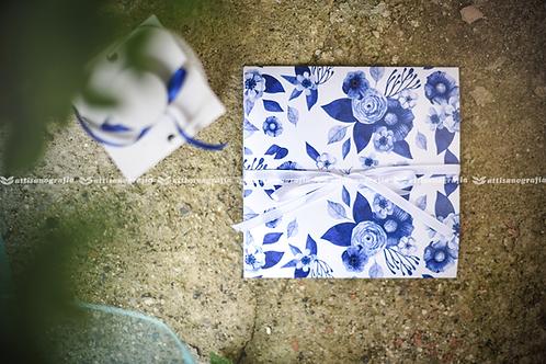 Art. 005 Fantasia Fiori Blu (1 set da 20 pezzi)