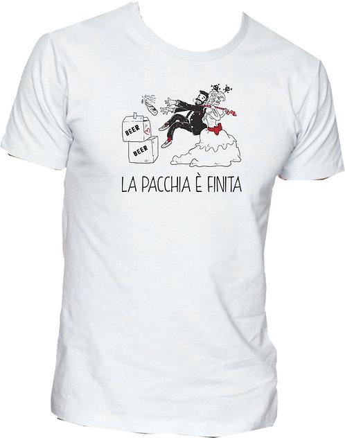 T-shirt La pacchia è finita (Birra)