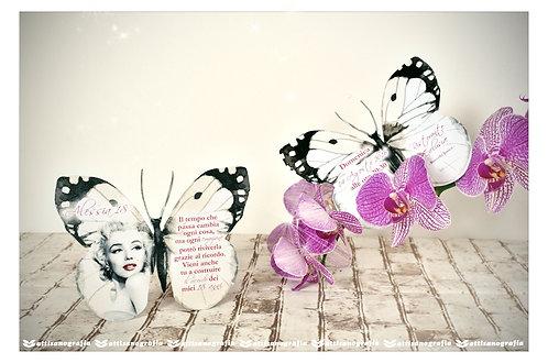 Invito a Farfalla 18 anni (1 set da 10 pezzi)