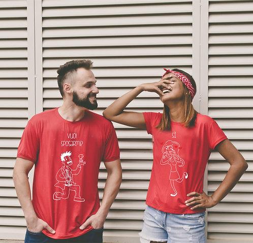 T-shirt Coppia Vuoi sposarmi?