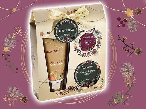 Confezione Berry Gold con 3 prodotti di cura corpo