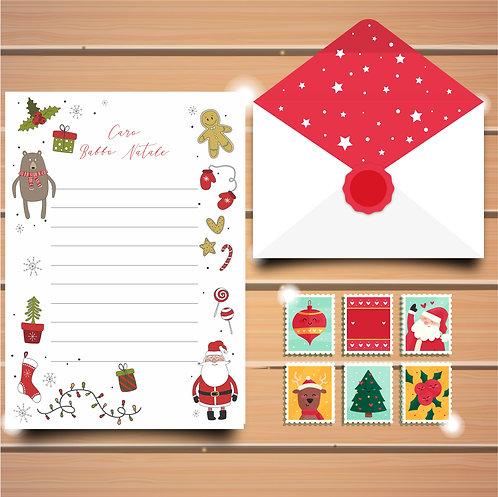 Set Letterina di Babbo Natale