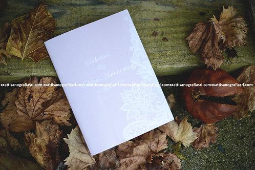 Libretto con richiamo in pizzo stampato (1 set da 50 pezzi)