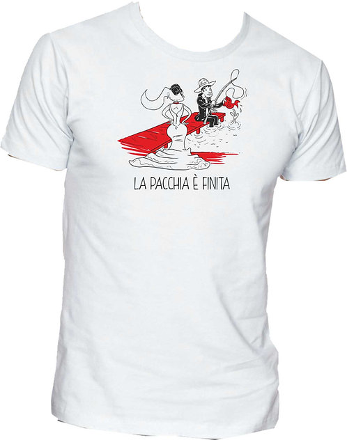 T-shirt La pacchia è finita (Pesca)