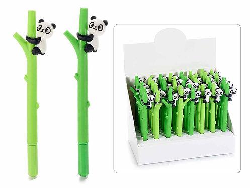 Penna a sfera a tronco con panda (48 pezzi)