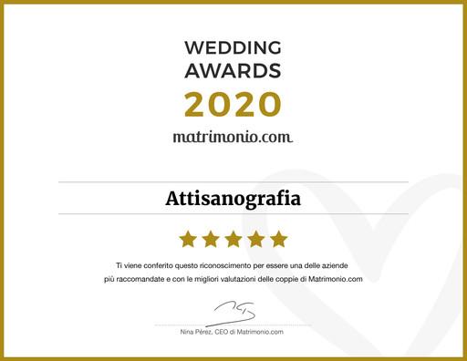 Vincitori Wedding Awards 2020