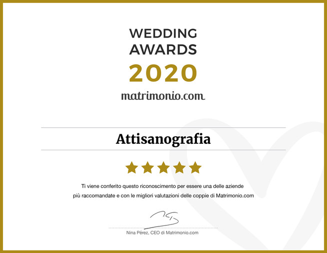 Vincitori Wedding Awards 2020