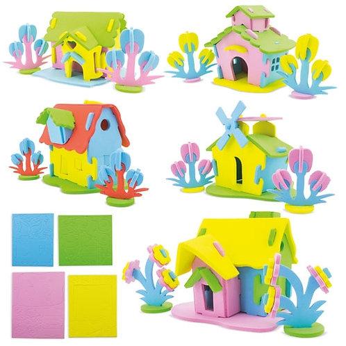 PUZZLE EVA HOUSE (5 elementi)