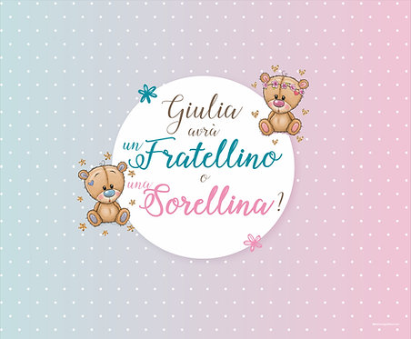 "Baby Shower ""Fratellino o Sorellina?"""