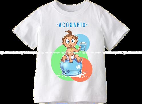 T-Shirt Segno Zodiacale Acquario