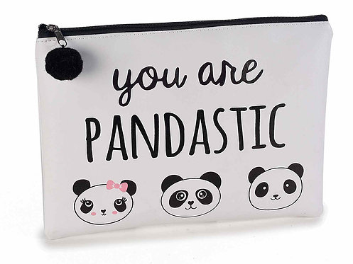 "Beauty pochette ecopelle decori ""Panda"" (4 pezzi)"
