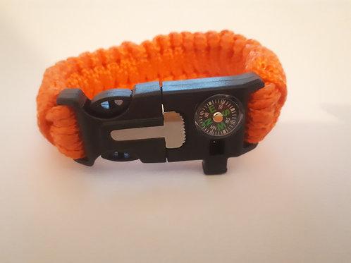 Survival Bracelet (Hi Viz Orange)