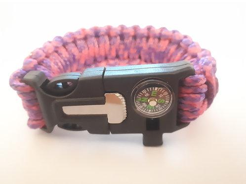 Survival Bracelet (Pink/Purple)
