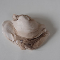 untitled, 2020, stocking, paper clay