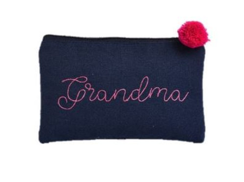 Canvas Cosmetic Bag Grandma