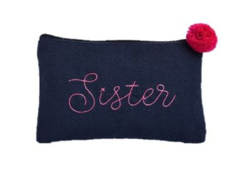 Canvas Cosmetic Bag Sister