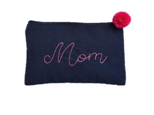 Canvas Cosmetic Bag Mom