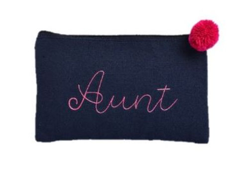 Canvas Cosmetic Bag Aunt