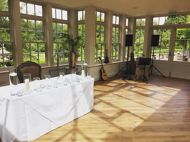 Loved playing at Daniel & Nicola's ceremony this morning at _mittonhall ☀️ Now long till my next set