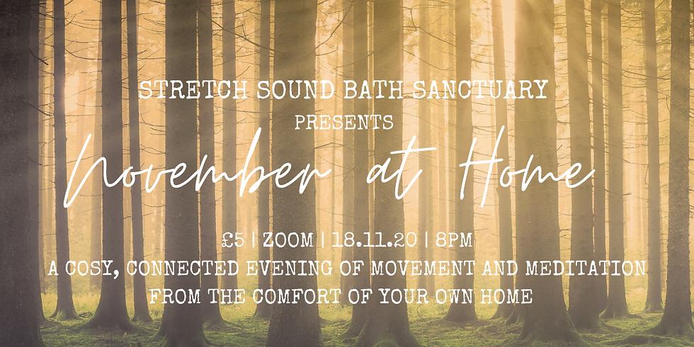 Stretch Sound Bath Sanctuary | Autumn at Home