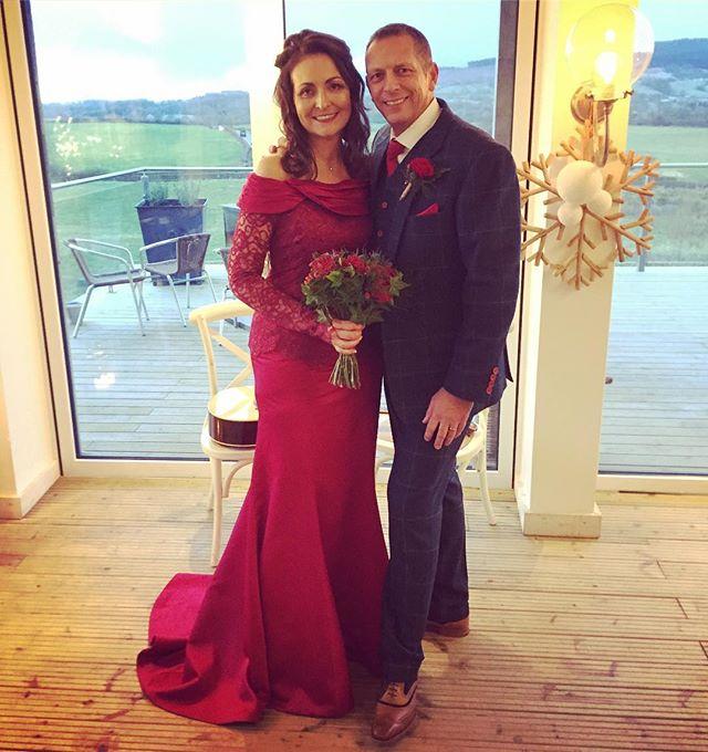 Today's fabulous couple - Maggie rocking a red wedding dress ✨ xxxx _bashallbarnweddings