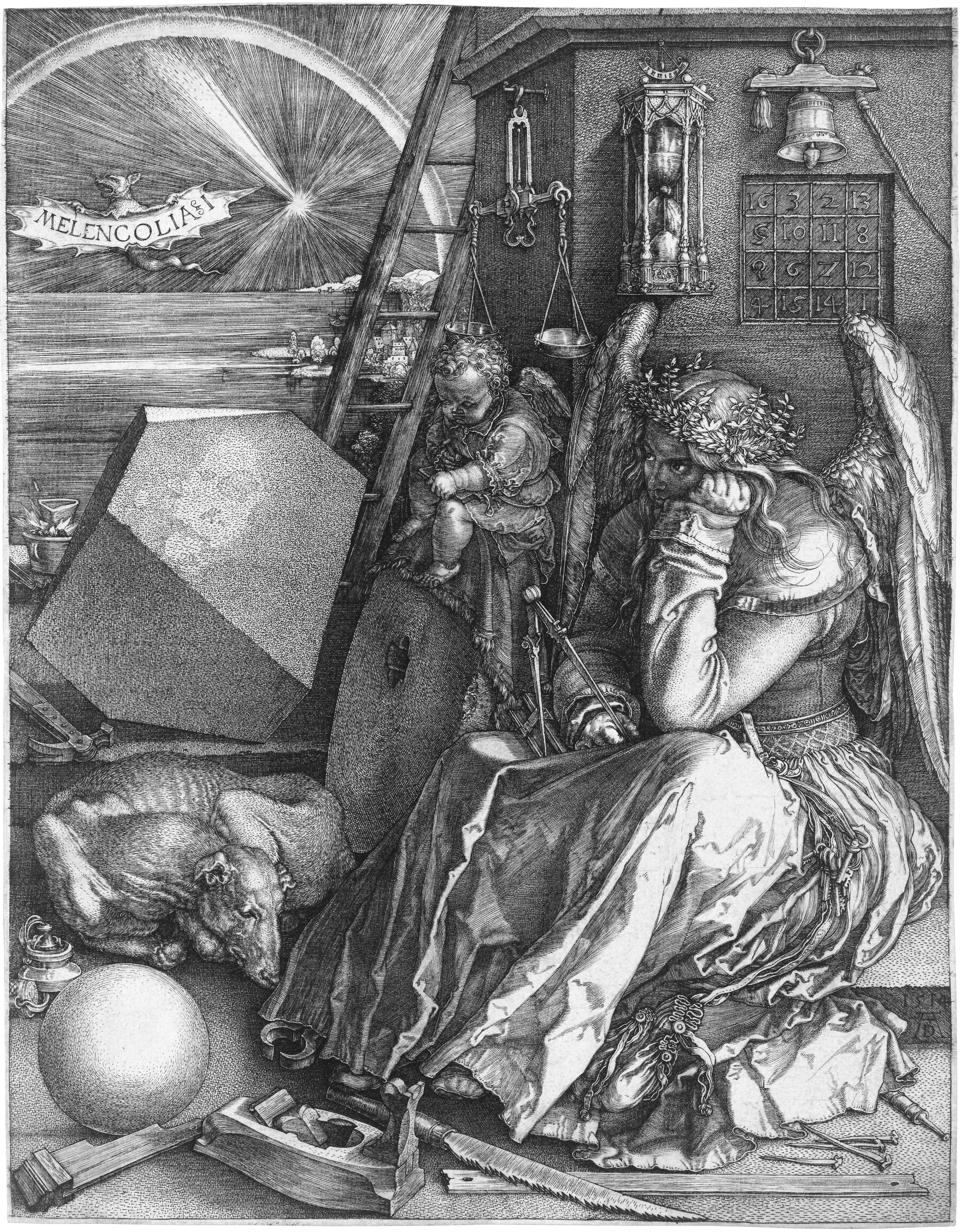 albrecht Dürer_Melancholia_I