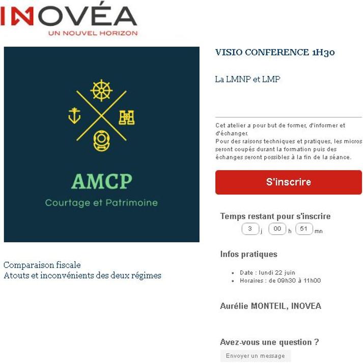 Formation Inovéa sur la LMNP et la LMP
